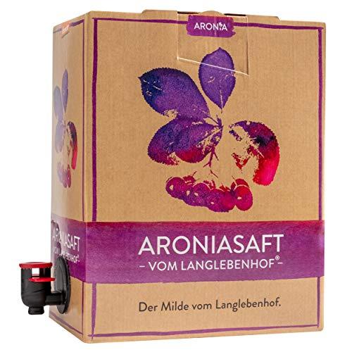 """Bio Aronia Saft - Vom Langlebenhof \""""Der Milde\"""" - 3 Liter Box - 100{c030edc4a08836c31217ea5304bd484336bf0e195f838a1c819927e093cbece7} Direktsaft - Aronia Muttersaft - Besonders Mild"""