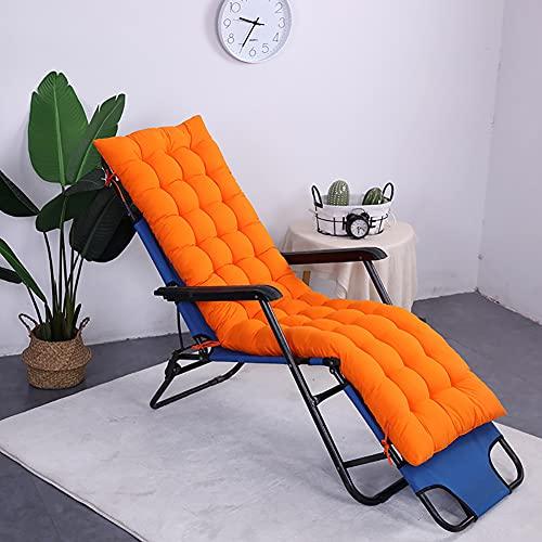 LINGXIYA Cojín antideslizante para tumbona de jardín con lazo de fijación, cómodos cojines de silla duraderos, práctico cojín reclinable para columpio de jardín al aire libre