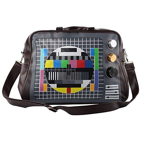 Superfreak® Tasche Umhängetasche groß Testbild-TV, Farbe: schwarz