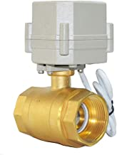 Two Way Five-Wires Control Normally Closed Brass 1 1/4 Inch,DN32 AC110-230V Motorized Ball Valve with Position Indicator