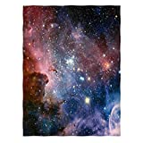 Space Throw Blanket, Galaxy Universe Star Fleece Blanket for Sofa Couch...
