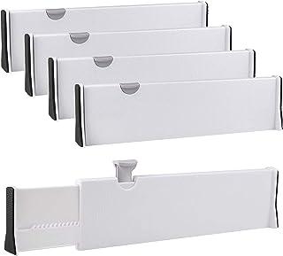 SHANQIAN Lot de 4 Separateur Tiroirs Extensible-54CM, Diviseurs de Tiroir Cuisine Organisateur Ajustable de Tiroir, Separa...