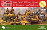 Plastic Soldier Company Tanque Churchill británico (2 tanques) - Kit de plástico 1:72