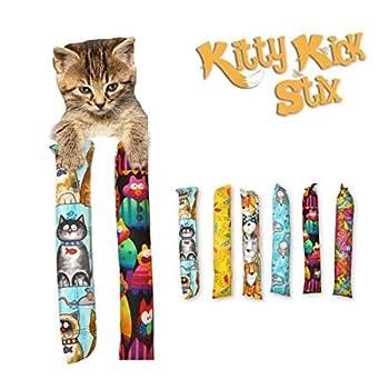 Kitty Kick Stix 11  Catnip Kicker Toys - Set of 2 Cat Kickers The Original Made in USA