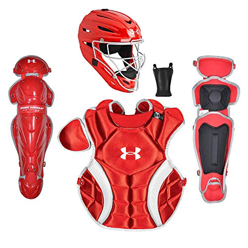 Under Armour PTH Victory Series Catching Kit, Meets NOCSAE, Ages 12-16, Red
