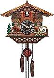 DFYAI 2021 Nuevo nórdico Retro Reloj de Pared de Madera alemán Black Forest Cuckool Reloj para la Sala de Estar Estudio de la Oficina Dormitorio Hotel Aula Iglesia, etc. (Ta