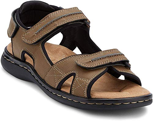Dockers Men's Newpage Sporty Outdoor Sandal Shoe,Dark Tan, 7 M US