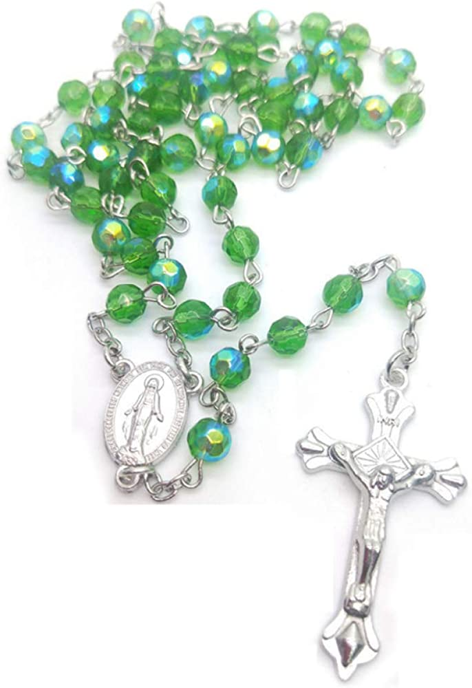 Ranking TOP4 Virgin Mary Gift Jesus Christ El Paso Mall Jewelry Crystal Ro Beads Religious