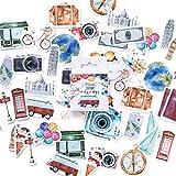 Lot de 45 autocollants décoratifs à thème voyage pour scrapbooking, école, papeterie