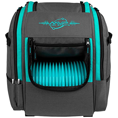 MVP Disc Sports Voyager Rucksack Disc Golf Bag (Version 2) (Grau/Aqua)