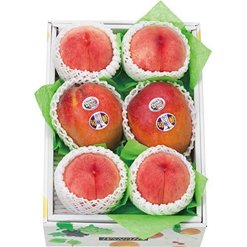 [お中元 夏ギフト] 山梨県産桃4玉とアップルマンゴー2玉 (包装のみ)