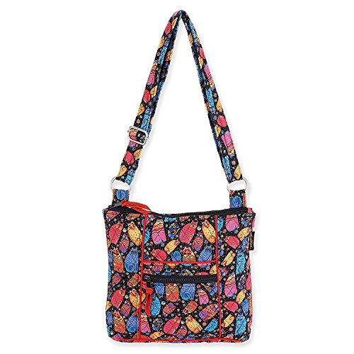 Laurel Burch Quilted Cotton N/S Crossbody Bag (Multi Feline)