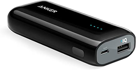 Power Bank, Anker Astro E1 5200mAh Portable Charger Candy bar-Sized Ultra Compact External Battery with High-Speed Charging PowerIQ Technology (Black)