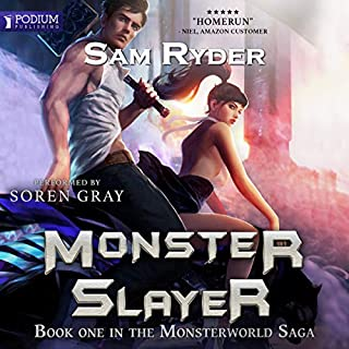 Warrior: Monster Slayer     Monsterworld Saga, Book 1              By:                                                                                                                                 Sam Ryder                               Narrated by:                                                                                                                                 Soren Gray                      Length: 9 hrs and 19 mins     23 ratings     Overall 4.0