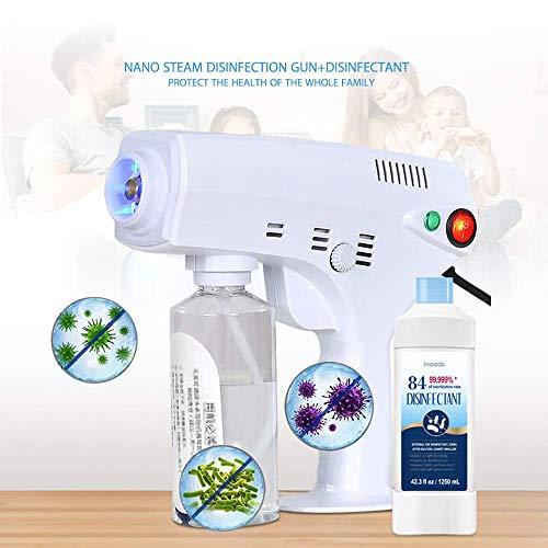 GGJJ ZHZZ El Pulverizador Eléctrico, 1300W De Vapor Portátil De BLU-Ray Nano Desinfectante Nebulizador, Atomización con Aire Desinfección Máquina para El Hogar Hospital Escuela Y Coche