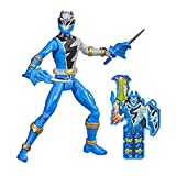 Power Rangers Dino Fury Blue Ranger 6-Inch Action Figure Toy Inspired by TV Show with Dino Fury Key and Weapon Accessories for Ages 4 and Up