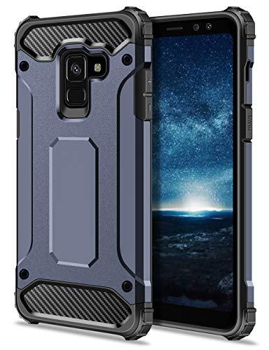 Coolden Samsung Galaxy A8 2018 Hülle, Outdoor Stoßfest Schutzhülle Tough Silikon Bumper Premium [Armor Serie] Handyhülle für Samsung Galaxy A8 2018 (Blau)