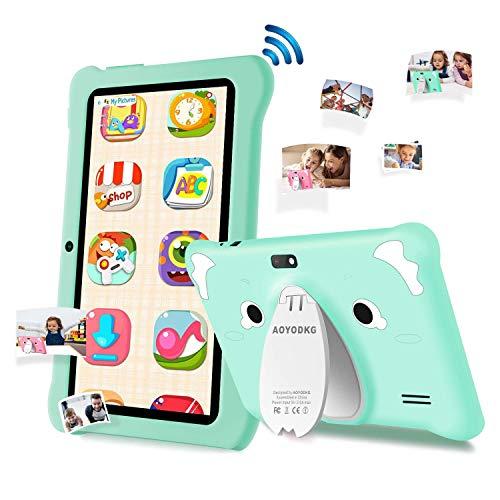 Tablet para niños de 7 Pulgadas, Android 9.0 Pie WiFi, 3GB de RAM 32GB ROM Tablet Android, Educación, Juegos, Control Parental, Google GMS Certificado, Bluetooth, Doble Cámara (Verde)