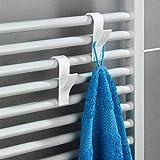 SHOP-STORY - Pack de 6 Crochets Porte-serviettes pour Radiateur de Salle de Bain