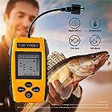 MHCYKJ Buscador de Peces Sonda Sonda Sonda Transductor de Alarma Buscador de Peces 0.6-100M Echo Sounder Buscador de Pesca de Carpas con Pantalla en...