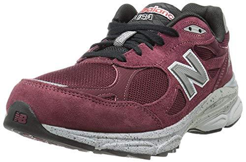 New Balance M990 Running Heritage - Zapatillas de Running de competición de Piel de Cerdo Hombre, Color Rojo, Talla 40 EU W