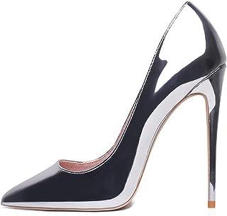 GENSHUO Femmes Mode Bout Pointu Escarpins À Talons Hauts Sexy Slip on Stiletto Party Chaussures 12 CM /