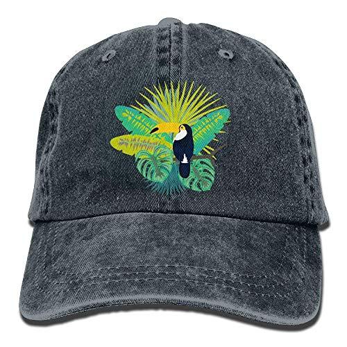 wwoman Gorra de bisbol Hombres Mujeres, Sombrero de Gorra de Mezclilla Ajustable de algodn para Mujer Toucan Bird