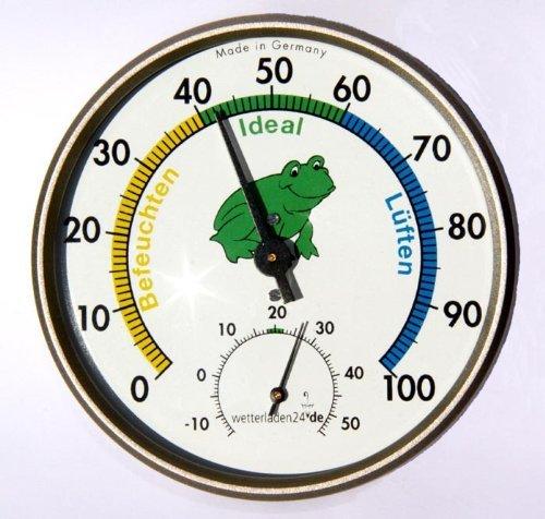Wetterladen Präzisions Hygrometer Klimafrosch, Mehrfarbig, 100 x 26 mm