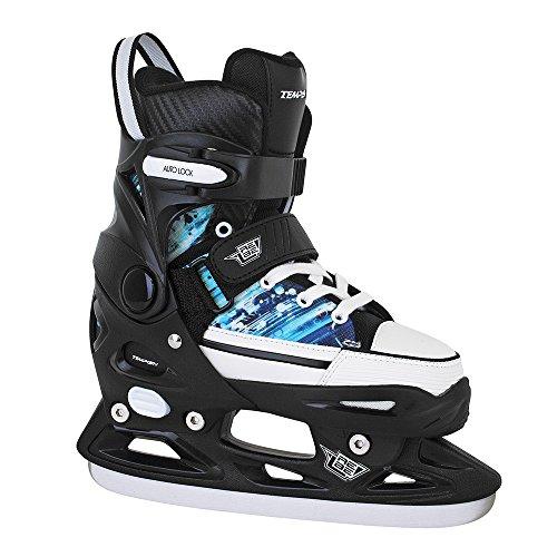 TEMPISH Herren Rebel Ice ONE PRO Größenverstellbare Eishockey Jungen, Kinder-Schlittschuhe, Black, 33-36