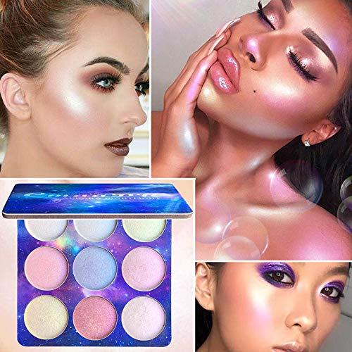 FAMILIZO Maquillaje Iluminadores Coloretes Sombras de Ojos Nueva Paleta De Sombras De Ojos 4 Colores Highlight Eyeshadow Waterproof Eye De Larga Duración