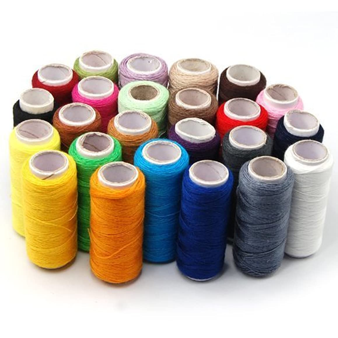ZXUY 24 Assorted Spools Polyester Sewing Thread Full Size