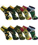 BestSale247 12 Paar modische Damen Mädchen Sneaker Socken Füßlinge Baumwolle (12 Paar | Farbmix, 35-38)