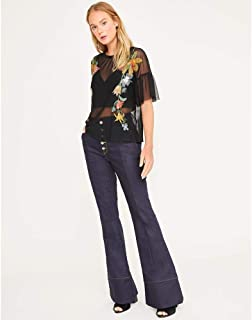 CALCA JEANS FLARE BOTOES