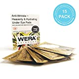 Under Eye Patches by Wera Skincare | Anti-Wrinkle + Heavenly & Hydrating Collagen | Depuffing & Rejuvenating | Reduces Dark Spots | Increased Adhesion & Hydration + Vegan & All-Natural (15 Pairs)