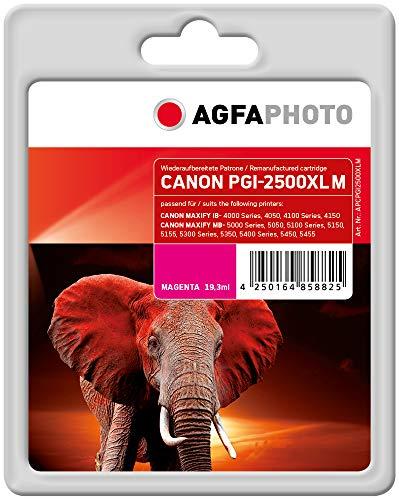AgfaPhoto Cartucho de Tinta Equivalente a Canon PGI-2500XL M, 9266B001, 1295 páginas, 19,3 ml, Magenta/Rojo (para Uso en Canon Maxify iB4050)