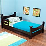 KidKraft Addison Wooden Toddler Bed with Side Rails & Curved Headboard & Footboard - Espresso