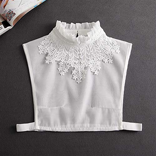 Wusfeng LHongBin-Falso Cuello de imitación Cuello de la Blusa Falsa de Las señoras, Abalorios de Soporte Collar Desmontable, Mujer Vintage Cristal Encaje Falso Collar Moda y fácil de Combinar