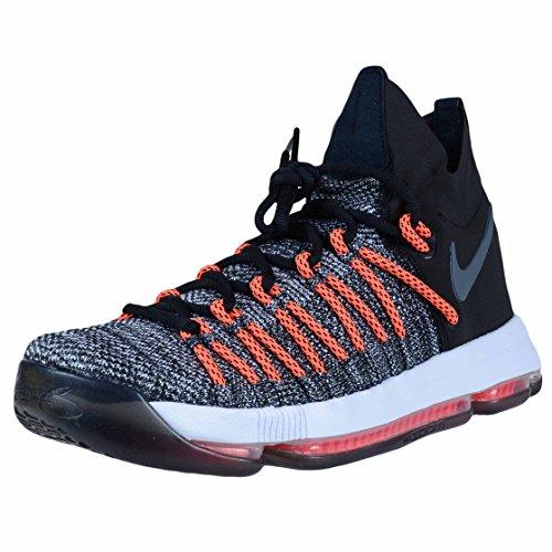 Nike Zoom KD9 Elite zapatos de baloncesto para hombre 878637-010_9.5 - Negro/Blanco/Gris Oscuro-Hyper Naranja