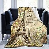 AEMAPE Manta de Tiro de París Torre Eiffel Manta cálida Manta Suave para sofá de Oficina en casa