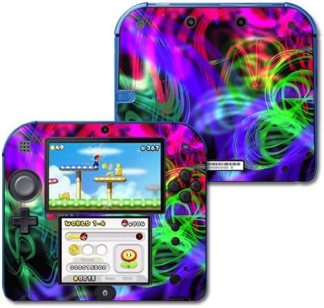 MightySkins Deluxe Ranking TOP15 Skin Compatible with Nintendo Splatter - Neon 2DS