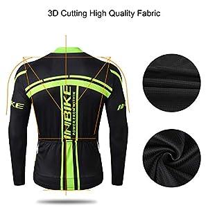 INBIKE Maillot Ciclismo Bicicleta De Manga Larga para Hombre, Camiseta Ciclismo MTB 100% Poliéster(S)
