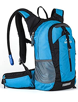 RUPUMPACK Insulated Hydration Backpack Pack with 2.5L BPA Free Bladder, Lightweight Daypack Water Backpack for Hiking Running Cycling, School Commuter, Fits Men, Women, Kids, 18L
