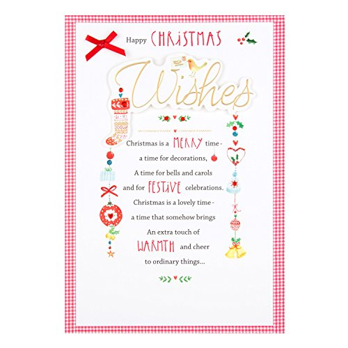 """Hallmark Weihnachtskarte, Motiv """"Festive Celebrations"""" in englischer Sprache, Mittlere Größe"""