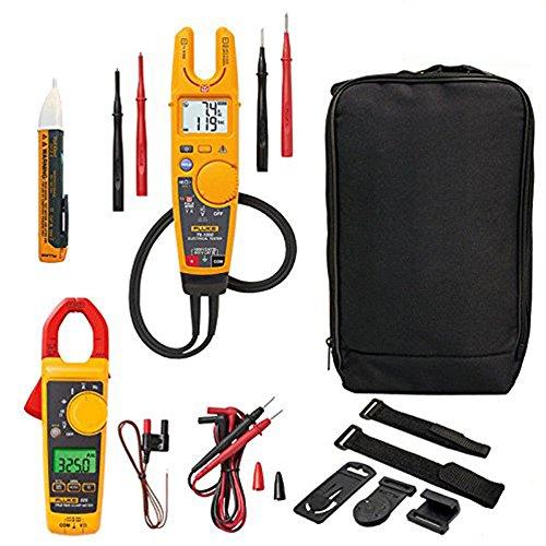 Fluke T6-1000 Electrical Voltage & Continuity Tester KIT4O Includes Fluke 325 Clamp Meter, 1AC Voltstick, LDM C115 Carry Case and TPAK Kit