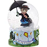 Precious Moments 193101 Disney Mary Poppins Let's Go Fly a Kite Musical Snow Globe WATERBALL, One Size, Multicolor