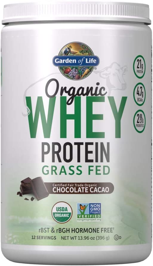 Garden of Life Certified Wholesale Organic 21g Fed California P Whey Grass Free shipping / New