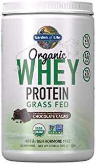 Garden of Life Certified Organic Grass Fed Whey Protein Powder - Chocolate, 12 Servings - 21g California Grass Fed Protein...