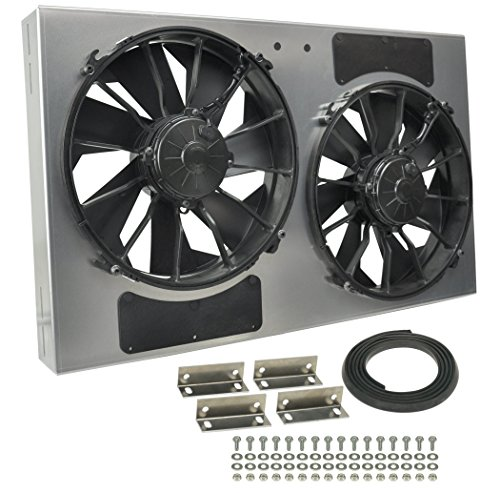 Derale Performance 16838 Gray/Black High Output Dual Radiator Fan