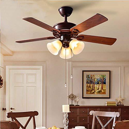 Hancoc Ventilador de techo antiguo con luz para sala de estar, dormitorio, restaurante decorado D103 x 50 cm