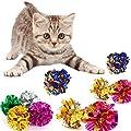 10 Pcs Cat Toy Colorful Crinkle Balls Cat Toys Mylar Balls Cat Toys Balls for Pet(Random Color)